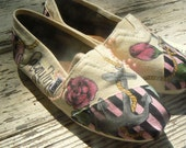Custom Hand Painted TOMS shoes: Anchored by Love