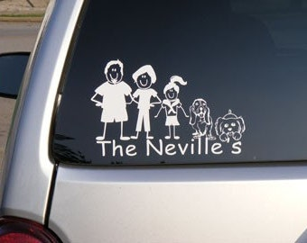 Vinyl Stick Figure Family Decal