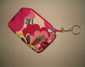 SAMPLE SALE burlap change purse or cell phone pouch