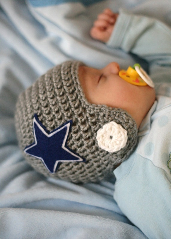 Crocheted Football Helmet Baby Beanie You choose TEAM and SIZE