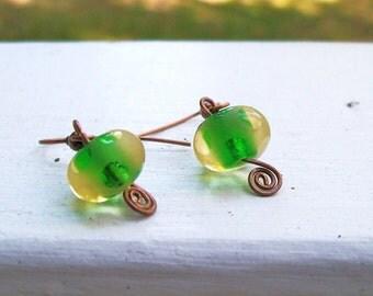 Moss Lamp Earrings