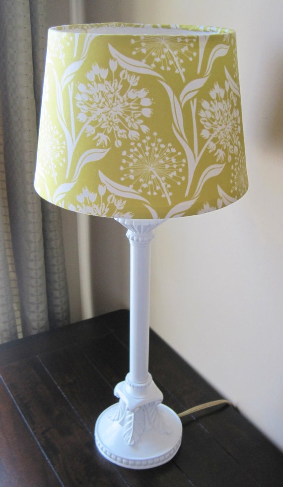 Chartreuse and White - Lamp - OOAK