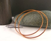 Sunkissed Painted Metal Hoop Earrings