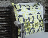 Throw Pillow Gray and Yellow Sunshine Cover Satin Shabby Chic Accent Pillow