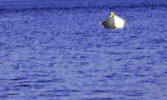 lone boater- 11x14 Photograph- Spirit Lake, Mt. St. Helen, Washington