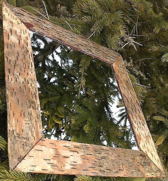 Birch Bark  Lined  Home Decor Mirror