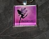 Great Stocking Stuffer - - - -Pink Believe Fairy Key Chain