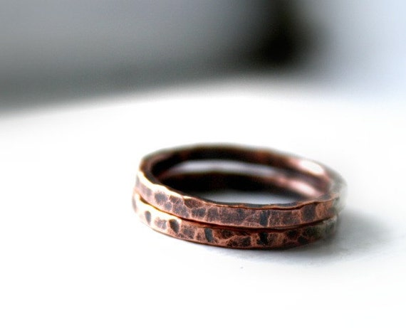Pure Copper Stacking Rings, Stackable, Earthy, Rustic Copper Bands, Your Size, Simple Copper Rings, Affordable Rings,