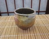 Burnt Orange and Brown Tea Bowl -- Medium