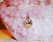 LOVE Mala Rose Quartz Mala 108 beads Meditation Mantra Prayers Buddhism