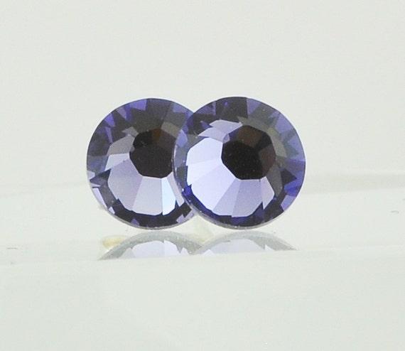 Tanzanite Purple Handmade Swarovski Crystal Post Earrings, Sterling Silver Studs, Bridesmaids Jewelry, Fall Fashion