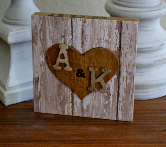 Reserved listing Heart &  Initials for Wedding Bridal Shower Anniversary Table Decoration or Home Decor