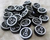 20 Black & White Vintage Bingo Numbers