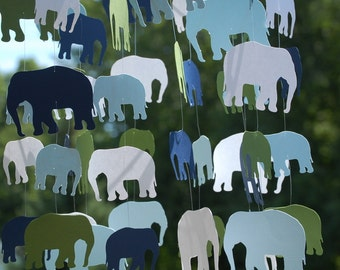 Custom Paper Elephant Mobile
