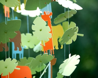 Paper Jungle Mobiles Elephants and Giraffes