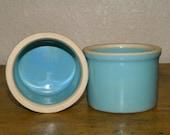 SALE Pair of Small Blue Crocks