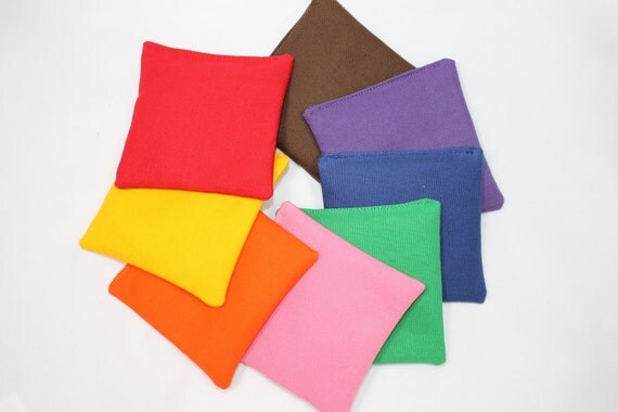 8 Bean bags - learn your colors