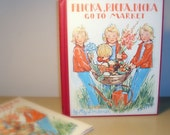 Vintage Children's Book - Flicka, Ricka, Dicka Go To The Market