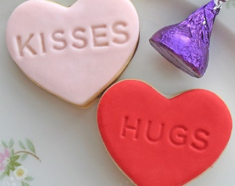 HUGS AND KISSES Sandwich Cookies
