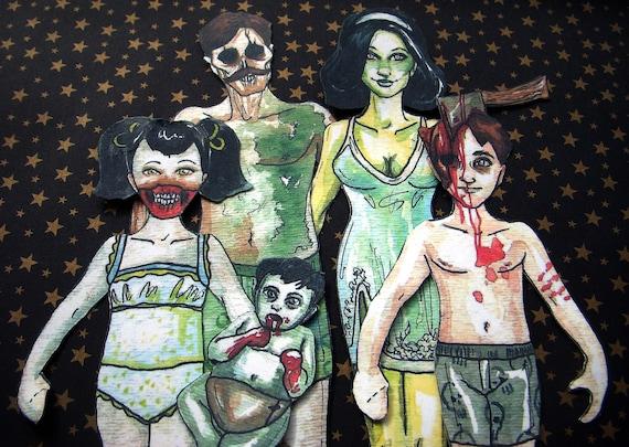Zombie Paper Dolls