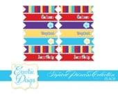 Tropical Princess Collection - Printable Flags