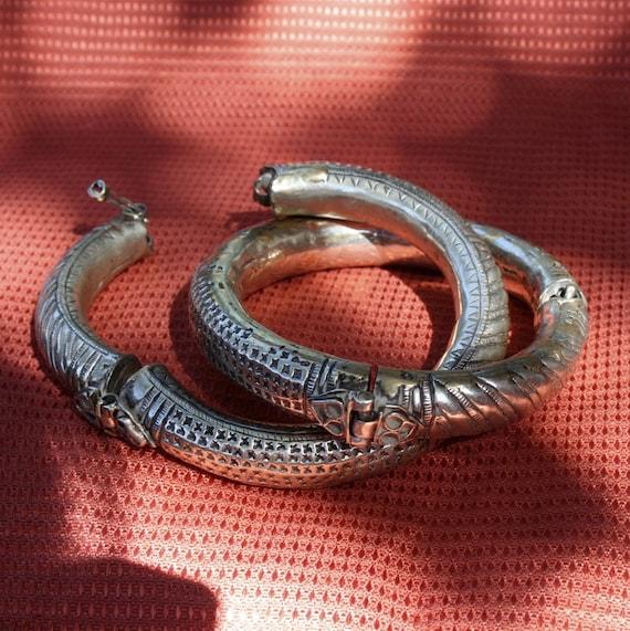 Vintage Kohistani Tribal Wedding Torque Anklets Spring sale