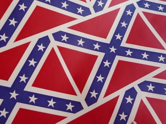 Vintage Wrapping Paper - Confederate Flag Wrapping Paper - Rebel Flag Wrapping Paper - Gift Paper  - Scrapbooking - Ephemera