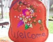 Fall door ornament Pumpkin welcome sign