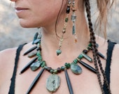 I Stand in my Power : modern tribal strong heart spirit spike necklace