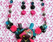 Sale Crystal Dunny Bib Necklace and Earring Set