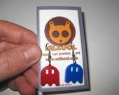 Pacman Ghost video games earrings