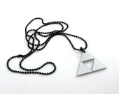 Legend of Zelda Triforce Small Necklace - Silver acrylic