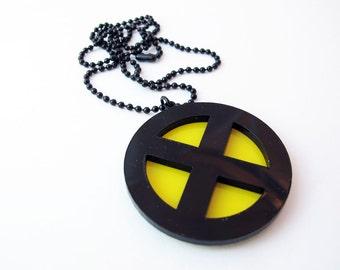 X-Men based emblem necklace - Acrylic