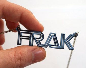 FRAK Pendant acrylic necklace