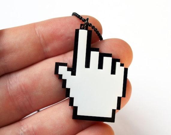 Mouse cursor 8-bit pixels - Hand