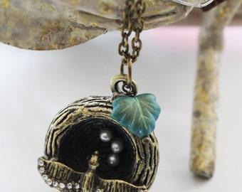 Vintage Bird Nest Necklace (VNL-24)