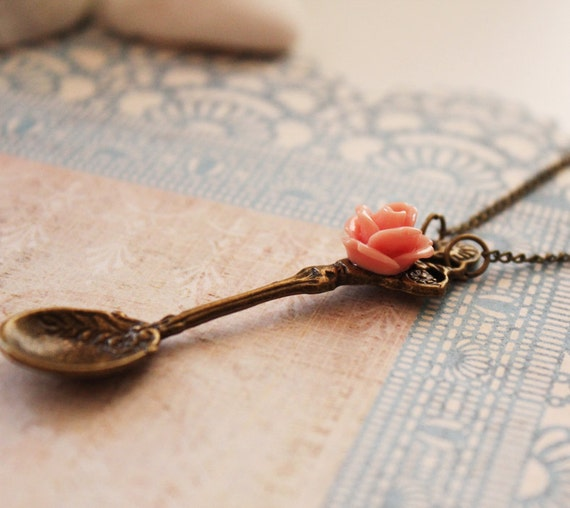 Victorian Fleur Spoon Long Necklace (VNL-15)