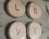 Sale - White Birch Wood Coaster - Set of 4