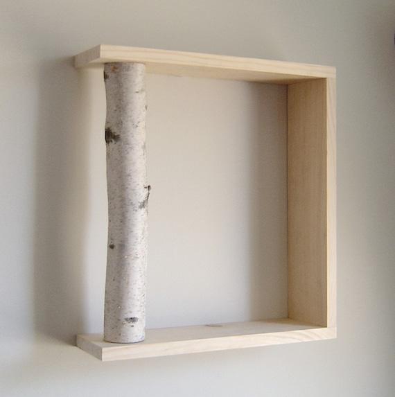 White Birch Forest - organic wall art/box shelf