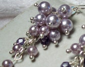 Cascading Lilac Pearl Earrings