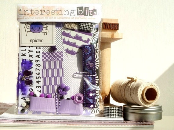 Prints, Patterns and Purples - KIT for CREATIVITY - 'Interesting Bits'