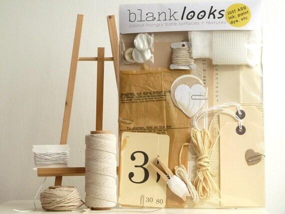 Vanilla Manila (Large) - Mixed art materials FOR ALTERING - Blank Looks