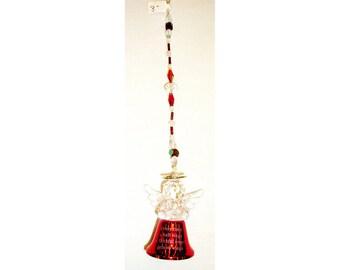 Christmas angel bell ceiling fan pull, suncatcher, ornament, chime