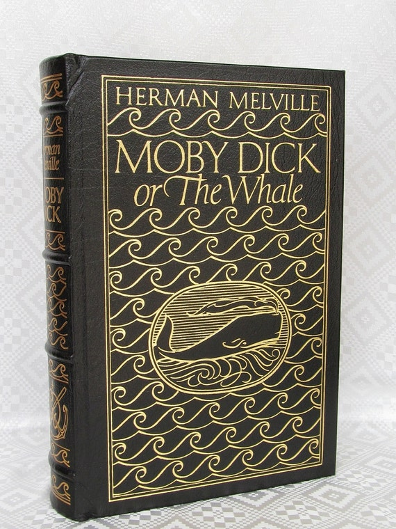 Vintage Moby Dick - the whale Herman Melville Published Easton Press 1977 Leather Bound