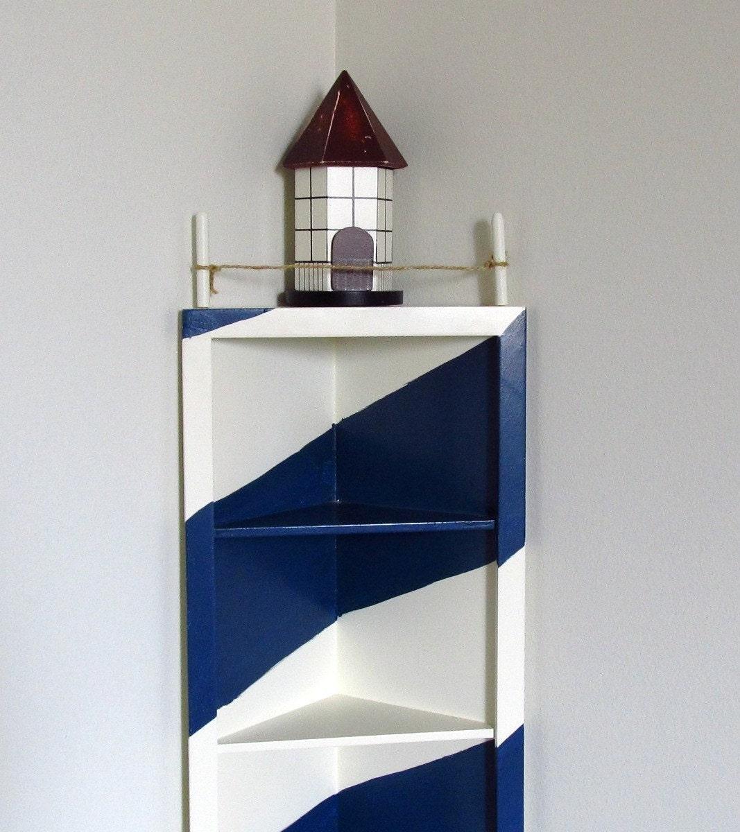 Lighthouse Bedroom Decor Lighthouse Corner Shelf Nautical Decor Display Coupon Code