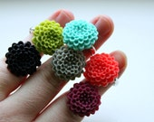 Drew. a fun statement flower ring. choose your color. by Lemon Kissed.