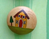 Hand Painted Knobs Country Home, Shaker, Primitive Home Decor