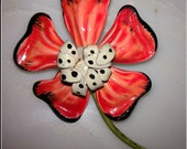 Flower Metal brooch from 50's great bright color, might be used as pendant