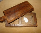 Very old, ca 17 century,primitive,  handcarved, wooden spice box