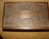 great shape victorian, handcarved, wooden box.